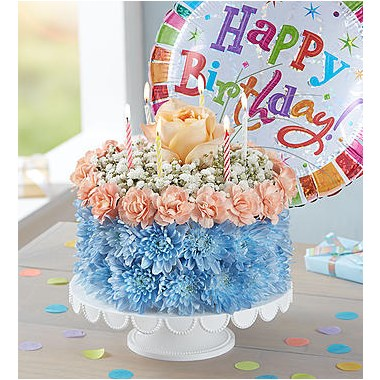 1 800 FlowersR Birthday Wishes Flower CakeTM Coastal