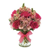 Pink petals flower bouquet from Ingallina's online gift shop